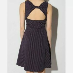UO Lark & Wolff Stripe Pocket Open Back Bow Dress